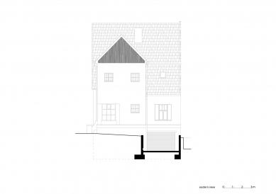 Vila Trojúhelník - Východní pohled - foto: studio AEIOU
