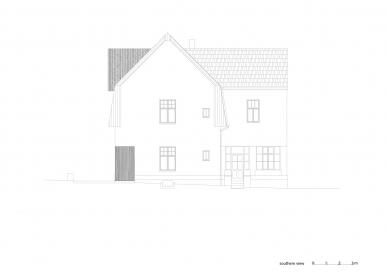 Vila Trojúhelník - Jižní pohled - foto: studio AEIOU