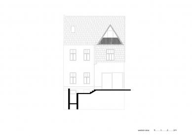 Vila Trojúhelník - Západní pohled - foto: studio AEIOU