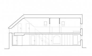 Dům na Kozině - Řez