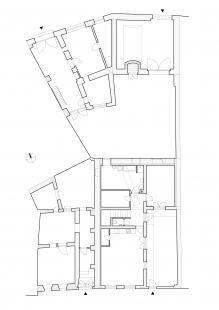 Dům na Kozině - Půdorys 1NP - původní stav