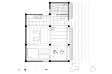 Dřevěný dům pod Červenou roklí - Půdorys