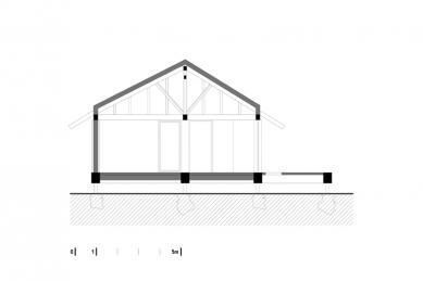 Dřevěný dům pod Červenou roklí - Řez
