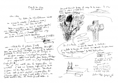 Hrob Le Corbusiera a jeho ženy Yvonne - Dopis bratrovi ze srpna 1961