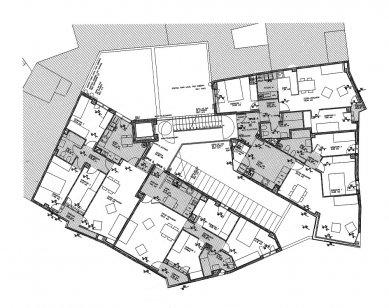 Social Housing Sant Agustí Vell - Půdorys 2. a 3.np