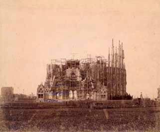 La Sagrada Família - Stav v roce 1898