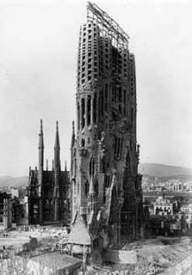 La Sagrada Família - Stav v roce 1913