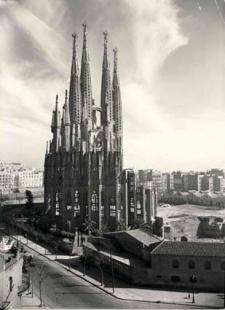 La Sagrada Família - Stav v roce 1953