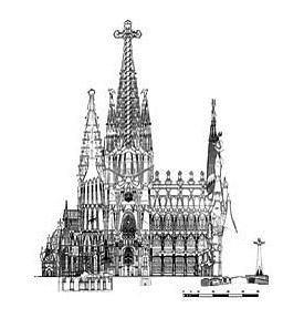 La Sagrada Família - Pohled
