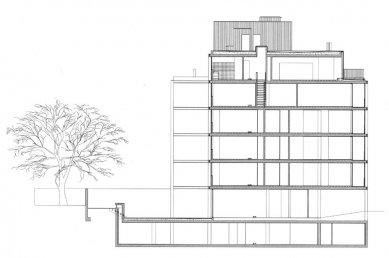 Bytový dům Teatro - Řez - foto: Souto Moura Arquitectos S.A.