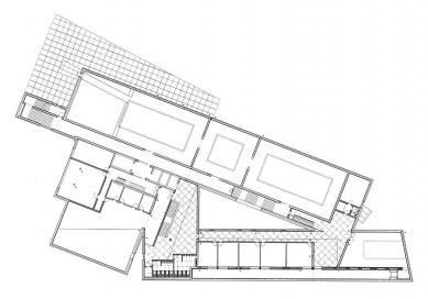 Centrum soudobého galicijského uměni - Půdorys patra - foto: Álvaro Siza