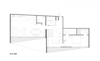 Casa pR34 - Půdorys - foto: © rojkind arquitectos s.c.