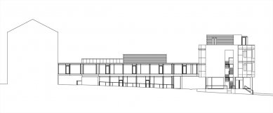 Fakulta  informačních  technologií  VUT - Pohled jižní - foto: Architektonická kancelář Burian - Křivinka
