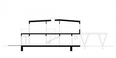 Rodinný dům K2 - Řez - foto: ARCHTEAM