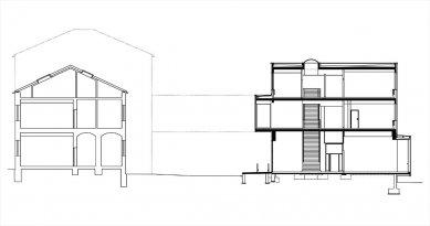 Pavilon Hygieny VFU v Brně - Řez - foto: Architektonická kancelář Burian - Křivinka