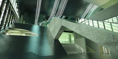 Pierres Vives - projekt archivu, knihovny a sportoviště - foto: © Zaha Hadid Architects