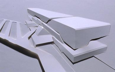 Pierres Vives - projekt archivu, knihovny a sportoviště - Papírový reliéf - foto: © Zaha Hadid Architects
