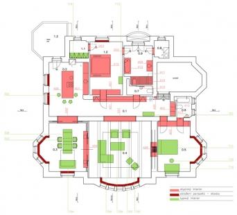 apartement _ P - Reconstruction and interior - Půdorys - foto: © studio pha