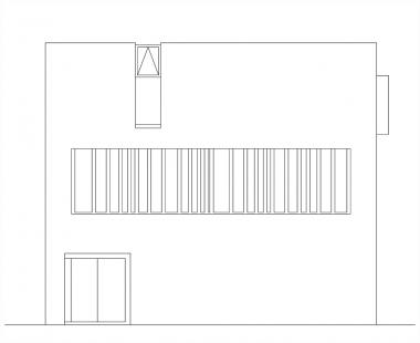 Vila u Vltavy - Pohled severní - foto: Atelier UM