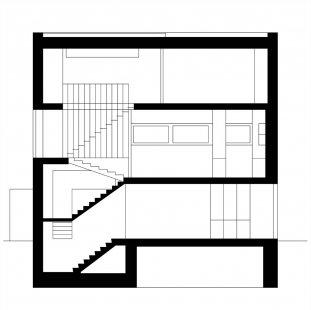 Vila u Vltavy - Řez - foto: Atelier UM