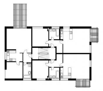 Dva domy se startovními byty - 2NP - foto: David Chmelař