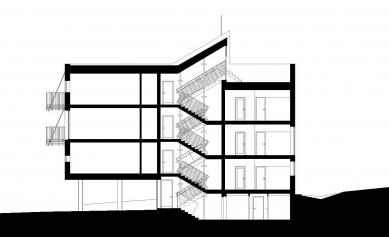 Dva domy se startovními byty - Řez - foto: David Chmelař