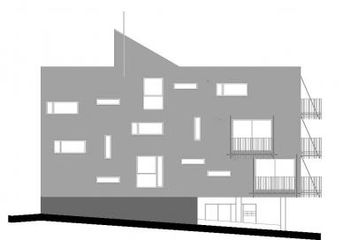 Dva domy se startovními byty - Pohled severní - foto: David Chmelař