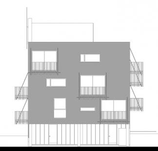 Dva domy se startovními byty - Pohled západní - foto: David Chmelař