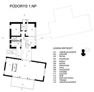 Dům v lomu - 1NP - foto: archiv