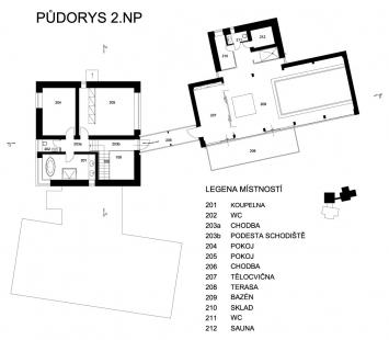 Dům v lomu - 2NP - foto: archiv
