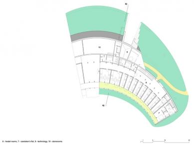 Středisko ekologické výchovy Sluňákov - Půdorys 2.np - foto: © Projektil architekti