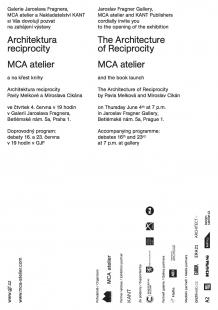 Architektura reciprocity - pozvánka na vernisáž v GJF
