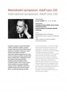 Adolf Loos 150 - mezinárodní sympozium