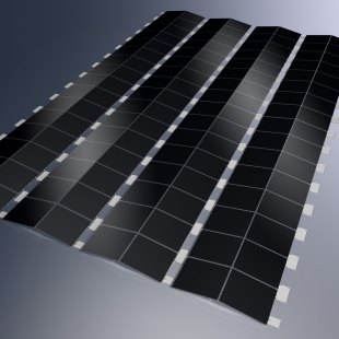 Společnost Schüco představila designově oceňované novinky v oblasti fotovoltaiky a solární termiky pro rok 2011 - Montážní systém Schüco MSE 100 východ západ - tenkovrstvý fotovoltaický panel - foto: Schüco