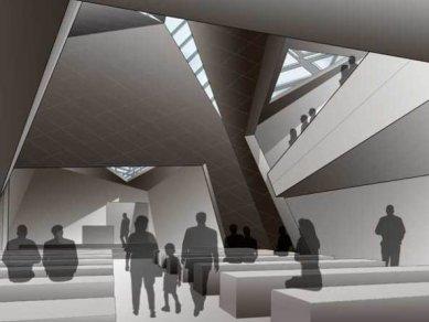 Projekt synagogy v mnichovské čtvrti Lehel od Daniela Libeskinda