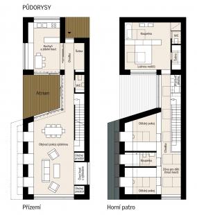 Sluneční dům - první rakouský CO2 neutrální rodinný dům - Půdorysy