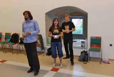 Archi-dílna Litoměřice - představení projektů - Vítězové (zleva): Jan Kurz, Klára Mitlenerová a Jakub Pleyer - foto: Archi LTM