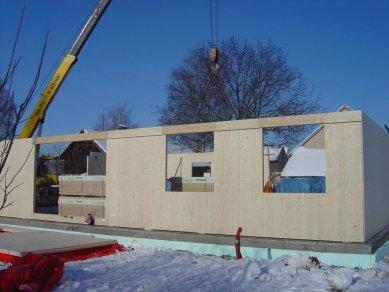 Pasivní dřevostavba - spotřebu máme pod kontrolou - Konstrukce obvodových zdí NOVATOP