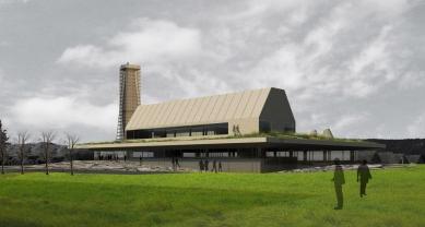 Studie archeoparku v Přísovicích - Pohled z jihu na vstup - foto: ATAK architekti
