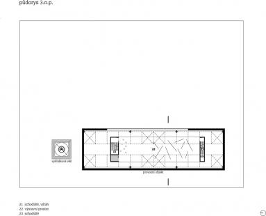 Studie archeoparku v Přísovicích - Půdorys 3.np - foto: ATAK architekti
