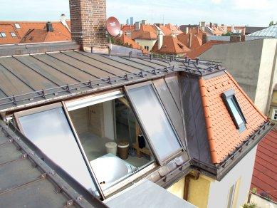 Posuvná střešní okna v centru Vídně - Odsuvné ateliérové prosklení Solara PERSPEKTIV, Mnichov - foto: archiv firmy Solara s.r.o.