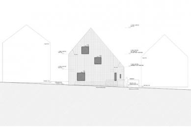 Dům M|H u Karlsruhe od Ulricha Langensteinera - Uliční pohled
