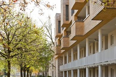 Ateliér blauraum a nástavby bytových domů Treehouses Babelallee v Hamburku - Oproti původním představám investora nakonec padlo rozhodnutí ve prospěch nástaveb, tedy zvýšení objektů o dvě poschodí. - foto: Fermacell