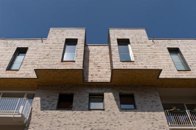Ateliér blauraum a nástavby bytových domů Treehouses Babelallee v Hamburku - Ke schválení dřevěné fasády bylo potřebné zvláštní vyjádření včetně zkoušek odolnosti vůči požáru. - foto: Fermacell