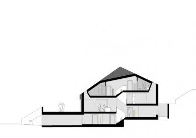 Dvojdomek v Oberweningen od L3P Architekten - Řez - foto: L3P Architekten