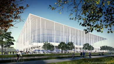 Projekt fotbalového stadionu v Bordeaux od H&deM - foto: Herzog & de Meuron