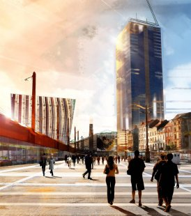 Přestavba vlakového nádraží v Bruselu od Jeana Nouvela - foto: © Ateliers Jean Nouvel
