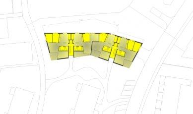 Sídliště Glättlistrasse v Curychu od L3P Architekten - Půdorys přízemí - foto: L3P Architekten