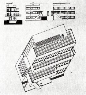K 105. výročí narození českého architekta Václava Zralého - Návrh na rodinný dům ředitele školy na Moravě, asi 1932-33
