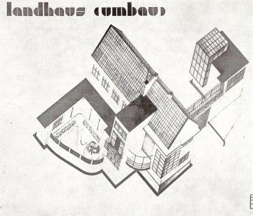 K 105. výročí narození českého architekta Václava Zralého - Návrh na přestavbu otcova domu, Pnětluky u Loun, asi 1933